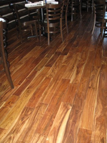 Acacia Natural Hand Scraped Solid Hardwood Floor Sample