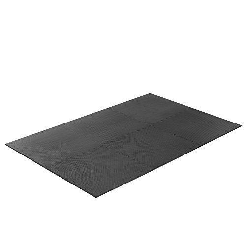 Gold Coast Interlocking Exercise Floor Tiles, 24 Square