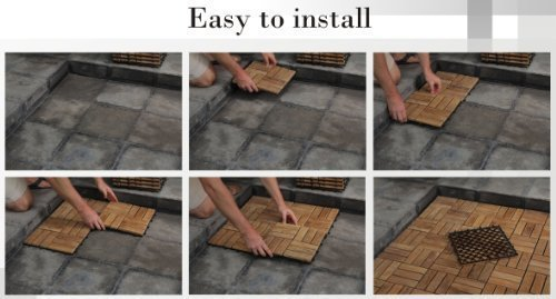 Bare Decor Ez Floor Interlocking Flooring Tiles In Solid