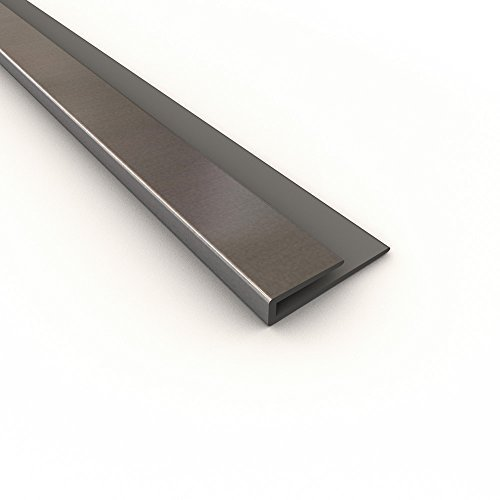 Fasade 176 08 Large Profile J Trim 4 Brushed Aluminum